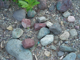 Pretty river rocks
