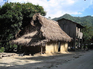 mud house, wooden house, Honduras