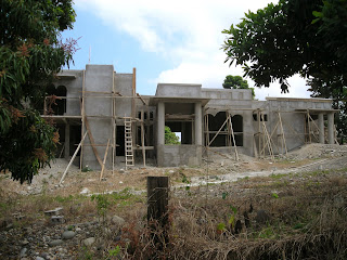 Honduran house under construction, La Ceiba