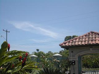 Blue sky, La Ceiba, Honduras