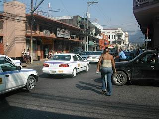 street scene, La Ceiba, Honduras