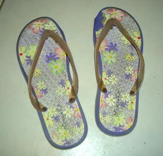 shabby flip flops
