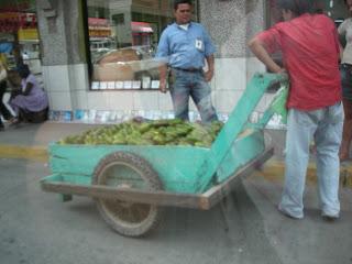 Streetside avocado vendor, La Ceiba, Honduras