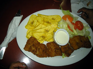 Fried fish, Kabasa restaurant, La Ceiba, Honduras