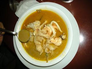 Marinera soup, Kabasa restaurant, La Ceiba, Honduras
