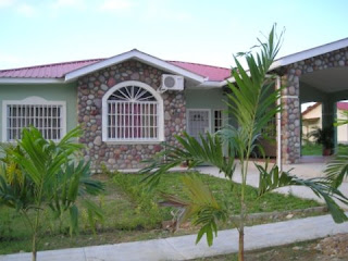 typical house, Rancho Lima, La Ceiba, Honduras