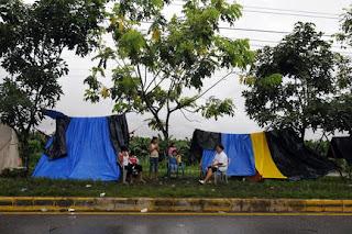 Tarp shelter, Honduras