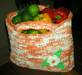 La Gringa's recycled plastic bag market bag, La Ceiba, Honduras