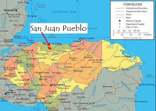 Map, San Juan Pueblo, Honduras