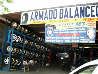 Tire shop, La Ceiba, Honduras
