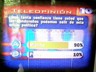 Honduran poll 8/11/09