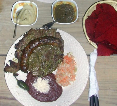 Typical Honduran restaurant plate