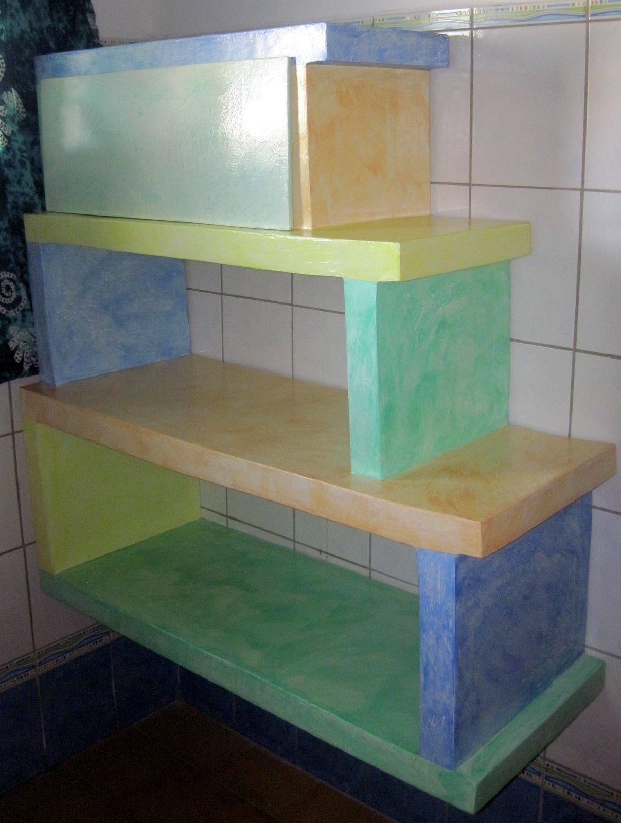 Bamboo karton tag re en carton pour la salle de bain - Tout pour la salle de bain ...