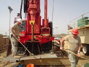 the first drill site gave us