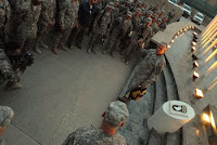Gen. George Casey, chief of staff of the U.S. Army, presided over a mass reenlistment of troops from throughout RC-East during his visit to CJTF-101 at Bagram.