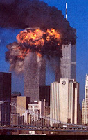 The Twin Towers in NYC - September 11, 2001. Never forget.