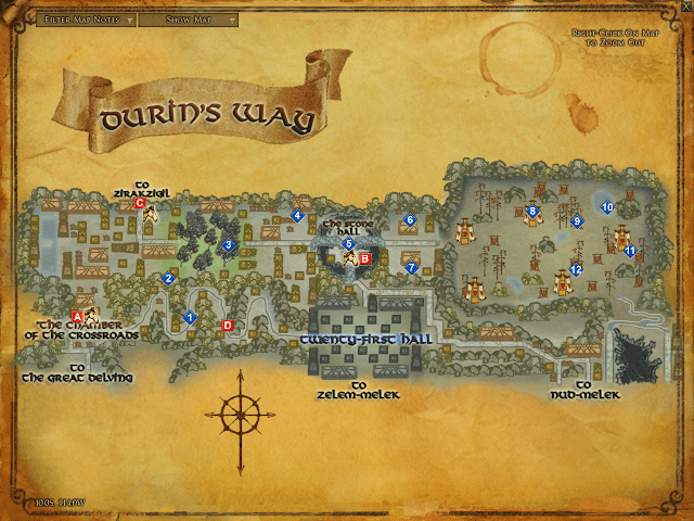 LOTRO Map of Durin's Way