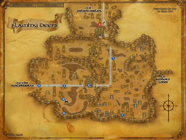 LOTRO Flaming Deeps Map