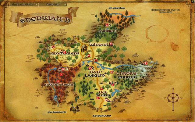 LOTRO Enedwaith Map
