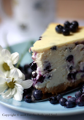 For the body and soul White Chocolate Blueberry Cheesecake