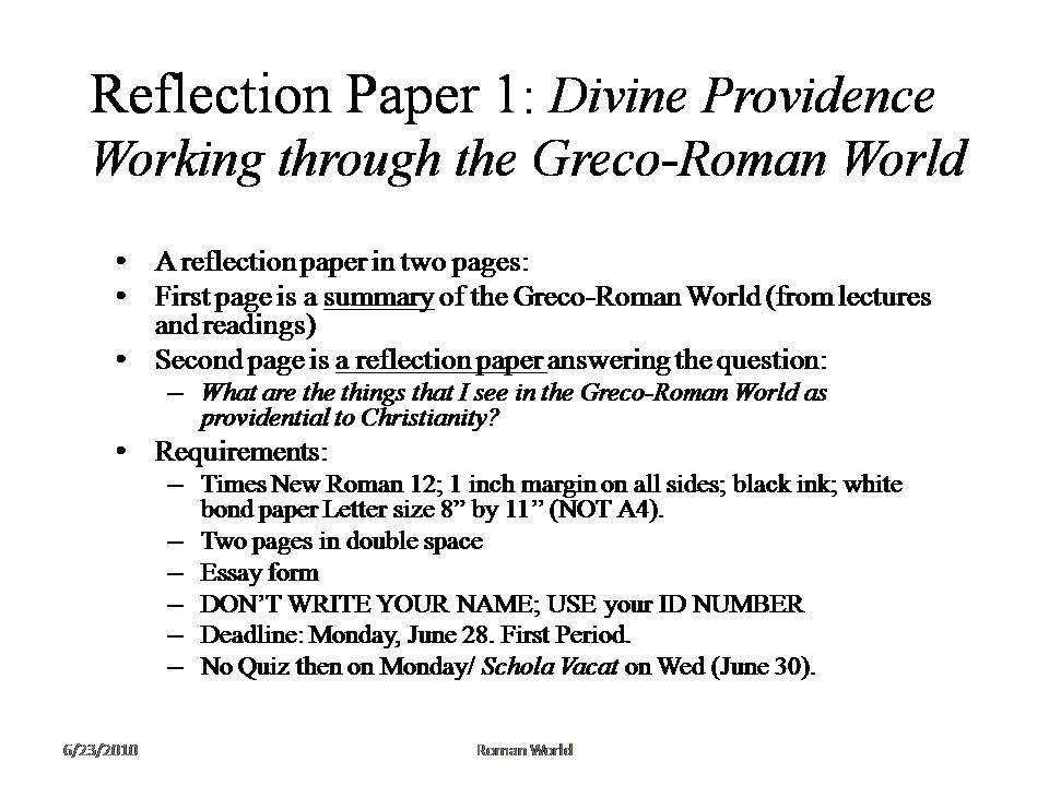 greco roman histroy essay Free essays the byzantine empire and greco-roman culture the byzantine empire and greco-roman culture ap world history byzantine empire the roman empire and.