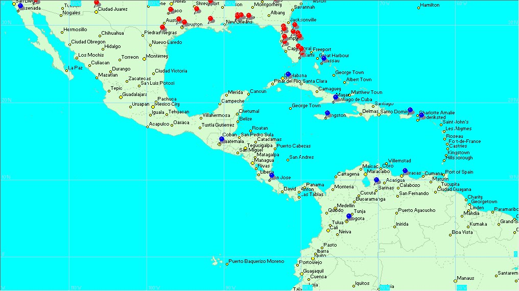map of latin america and capitals. Map+south+america+central+