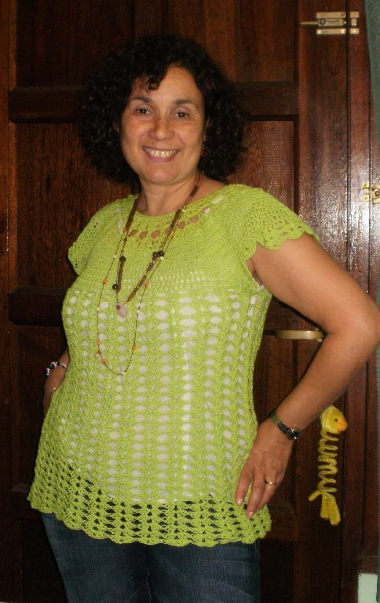 modelo maria alejandra tejido remera calada tejida en crochet tejido