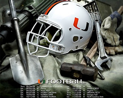 Miami's poster schedule, sent to us by Steve, resembles a computer wallpaper