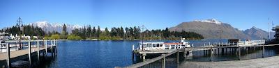My New Zealand Vacation, Queenstown, Lake Wakatipu, 2005Pano48