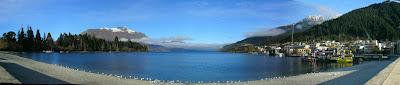 My New Zealand Vacation, Queenstown, Lake Wakatipu, Pano152a