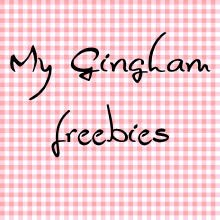 Gingham freebies
