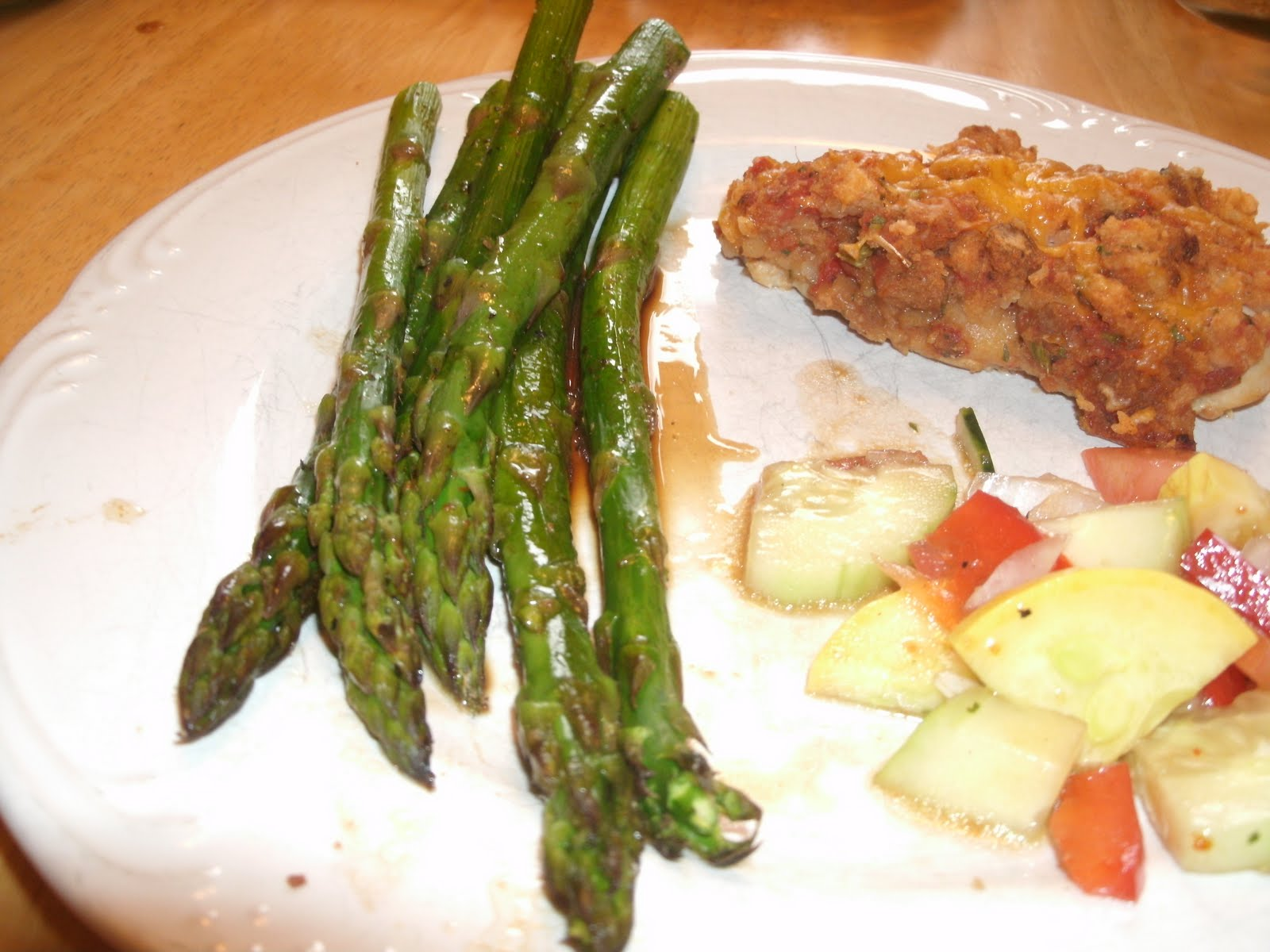 Baked Asparagus with Balsamic Butter Sauce Adapted from All Recipes