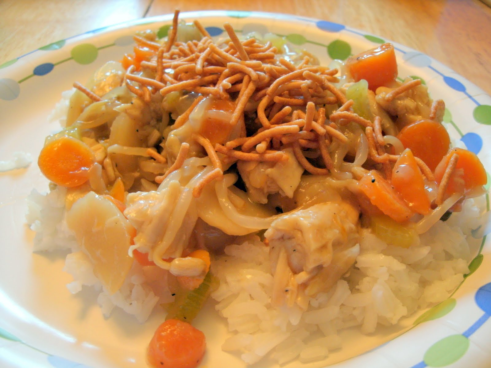 What we've got cookin': Chicken Chop Suey/Chow Mein