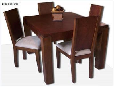 Mimbres y muebles rusticos y finos comedores for Comedor 4 puestos madera