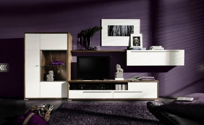 Living Room Designs and Ideas for 2010 by Hülsta l Purple Shade Living Room.