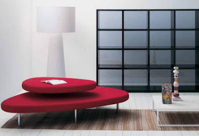 red+living+room+sofas