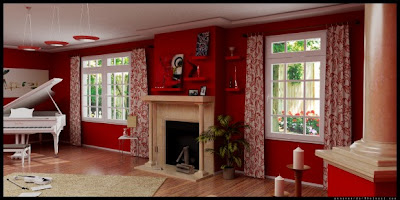 red-living-room