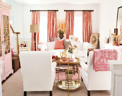 Living room pink