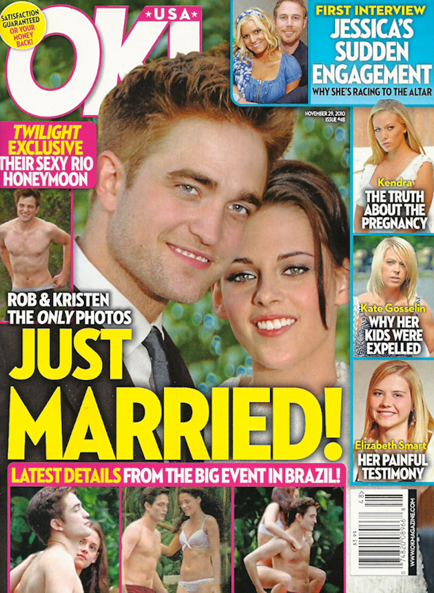 is robert pattinson and kristen stewart married in real life. This is not okay for a