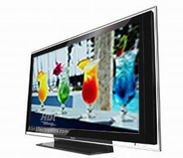 Apesar de grande, a televisão tem apenas 15 centímetros de espessura.