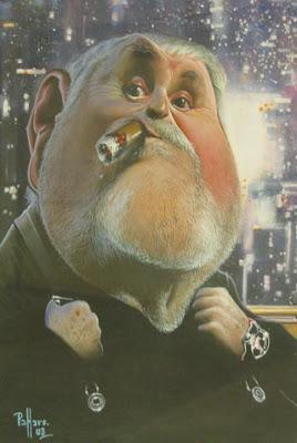 Caricatura de Jô Soares, charge