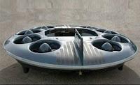 Imagem do M200G, que parece um disco voador e funciona como tal.