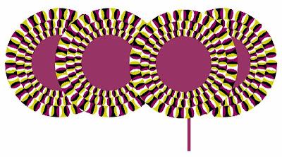Ilusão de Ótica - desenho de pirulito psicodélico parece se mover.