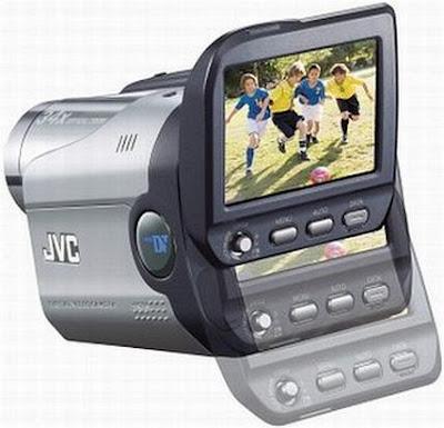 Câmera filmadora digital JVC GR-DA20 Vista da parte de trazeira