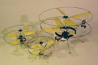 Micro Helicóptero - o menor do mundo - construído com Nanotecnologia.