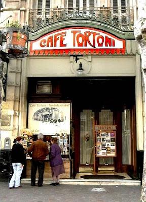 Fachada do Cafe Tortoni, em Buenos Aires.
