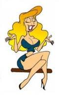 Logotipo da seção piada de loira ou piadas de loiras