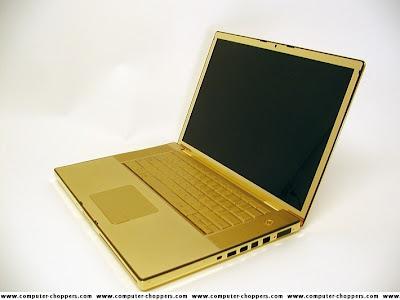 Ouro e Diamantes para enfeitar notebook