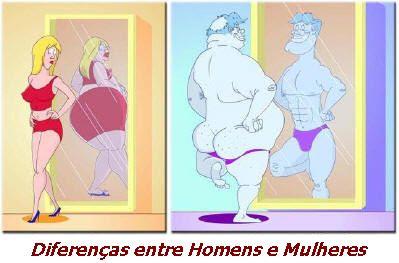 Homens e Mulheres: diferenças ao espelho.