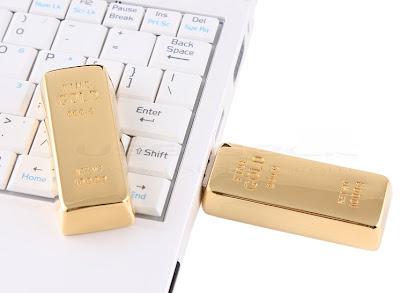 Pen Drive de 4 GB recoberto de Ouro